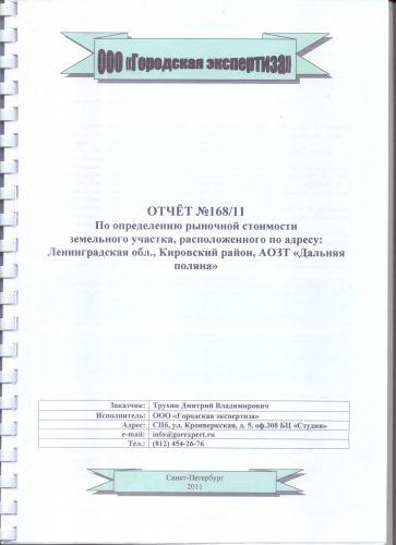1 лист отчета
